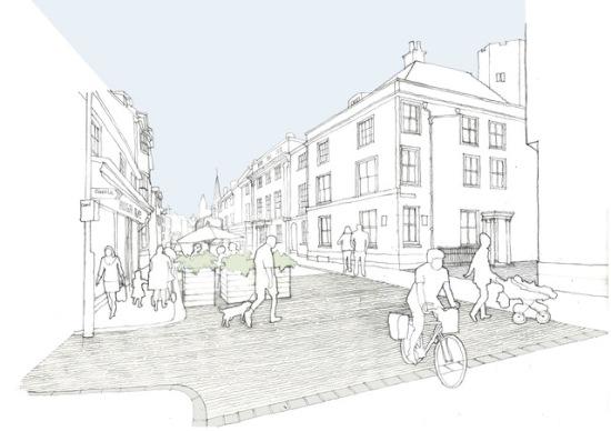 Lewes Highsteet sketch by Nick Wiseman